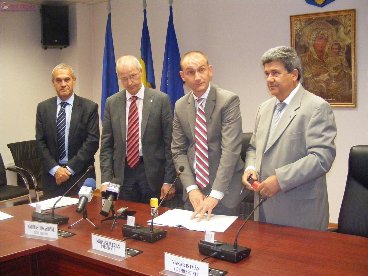 Semnarea contractului cu investitorii germani de la Henschel GmbH FOTO