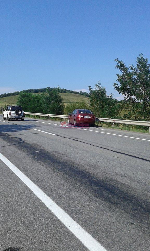 Accident pe centura Gherla. Trei mașini s-au ciocnit FOTO