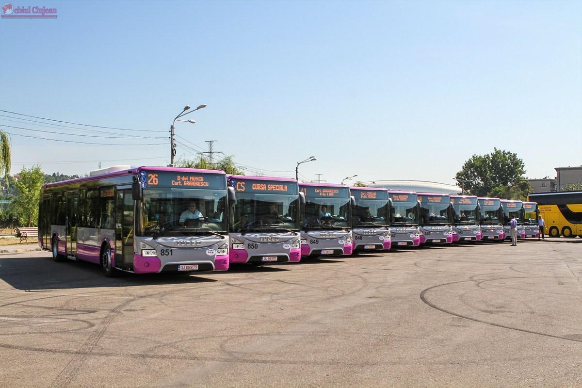 Alte 10 autobuze noi au intrat în circulaţie la Cluj-Napoca FOTO