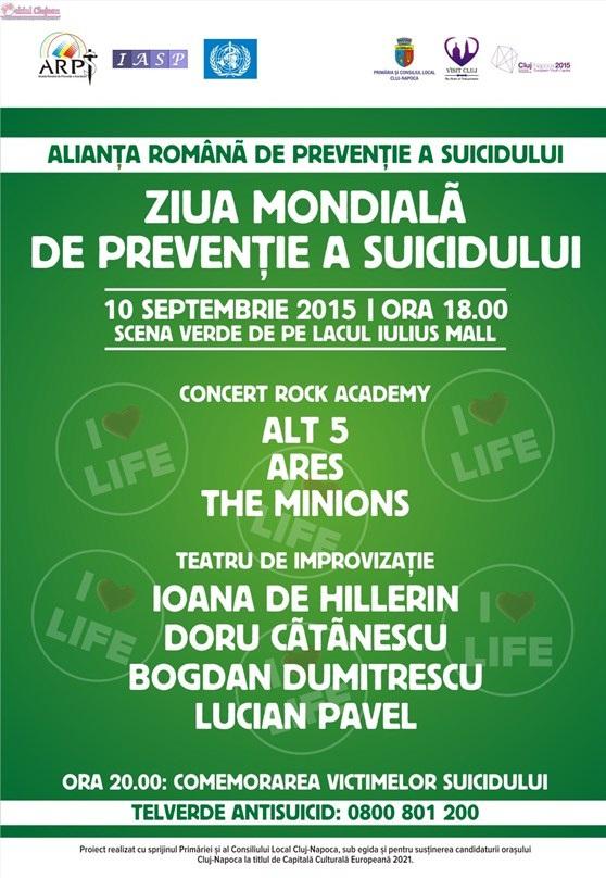 Cluj: Rock şi teatru de Ziua Mondială de Prevenţie a Suicidului