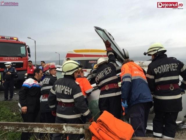 Accident GRAV în Bunești! O șoferiță s-a răsturnat cu mașina  VIDEO