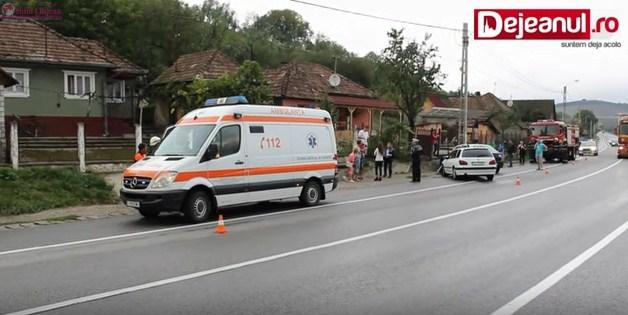 Accident pe centura Gherla! 6 persoane au fost rănite VIDEO