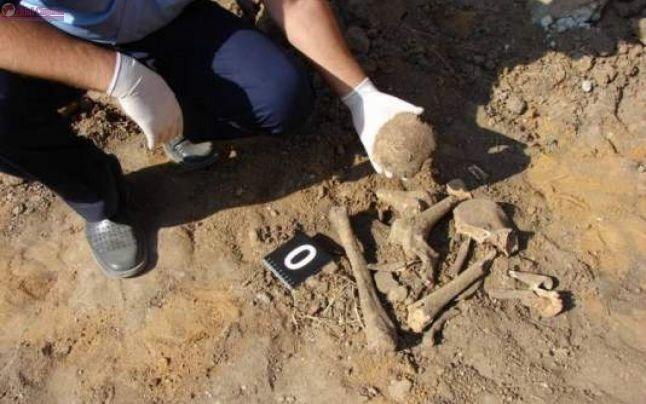Fragmente de oase găsite în urma unor escavări în Florești
