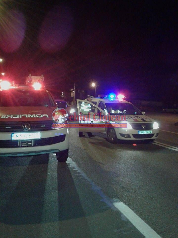 Accident în Apahida produs de un șofer beat, două persoane au ajuns la spital