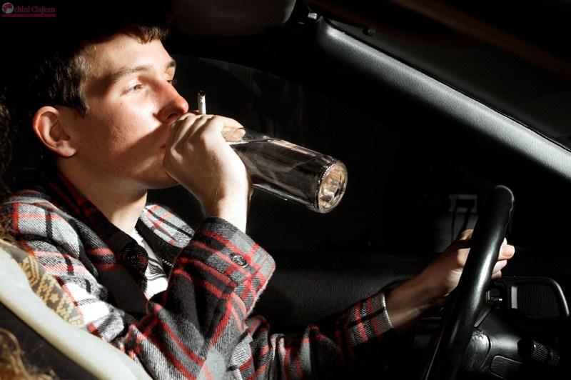 Șoferi beți la volan, depistați în trafic de polițiștii clujeni