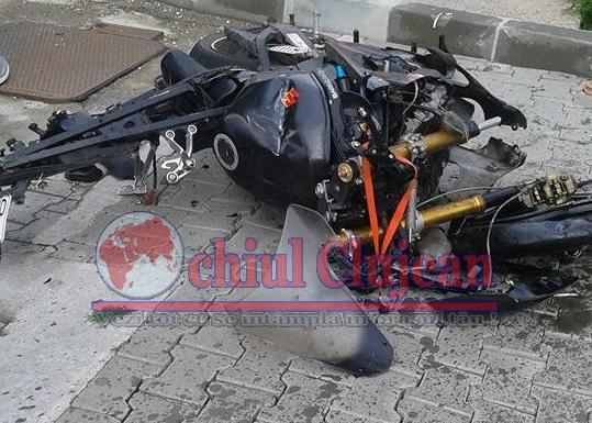 Accident grav pe strada George Coșbuc! Un motociclist a ajuns la spital