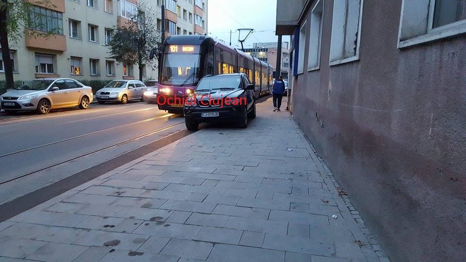Circulatia tramvaielor blocata pe strada I.L.Caragiale FOTO