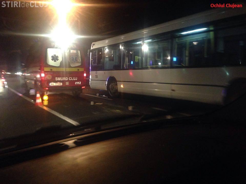 Accident MORTAL in Floresti! O femeie a fost accidentata de un autobuz – FOTO