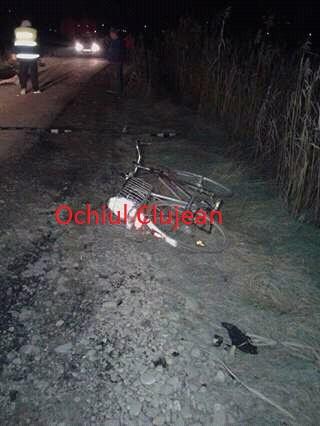 Accident mortal in Sic! Biciclist spulberat de o masina FOTO