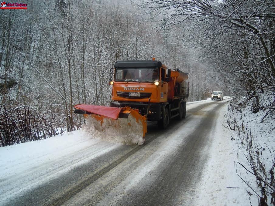 Situația drumurilor din județul Cluj, astăzi 13 ianuarie 2017