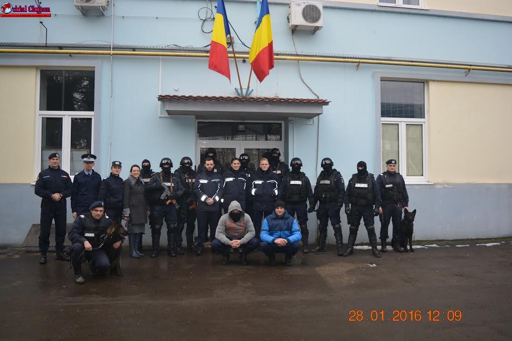 Delegaţie germană în vizită la Inspectoratul de Jandarmi Judeţean Cluj -FOTO
