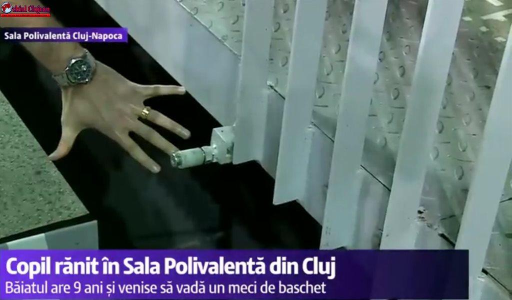Copil rănit în Sala Polivalentă din Cluj-Napoca. A căzut în gol 4 metri VIDEO