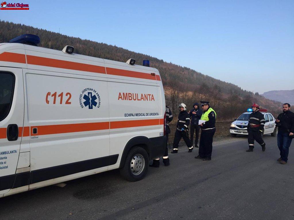 Accident grav la Fizeșu Gherlii! O persoană a ajuns în comă la spital VIDEO