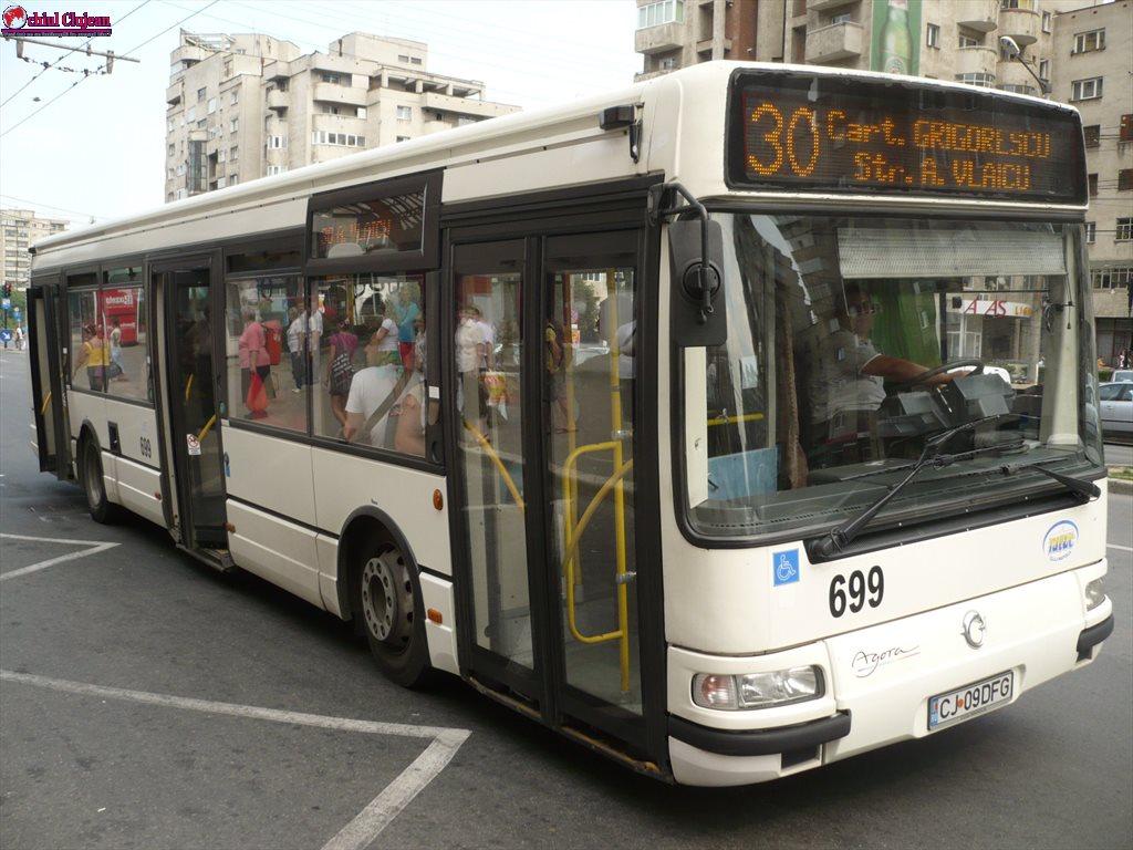 CTP Cluj anunță modificări traseu pentru linia 30
