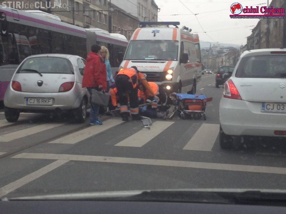Accident GRAV pe strada Horea! O femeie a fost lovită de un autoturism pe trecerea de pietoni FOTO