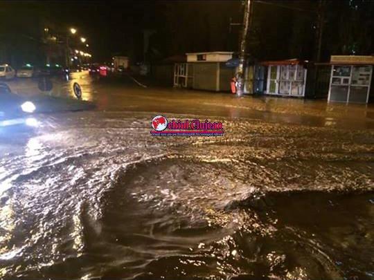 Inundații la DEJ! 200 de familii au fost afectate FOTO-VIDEO