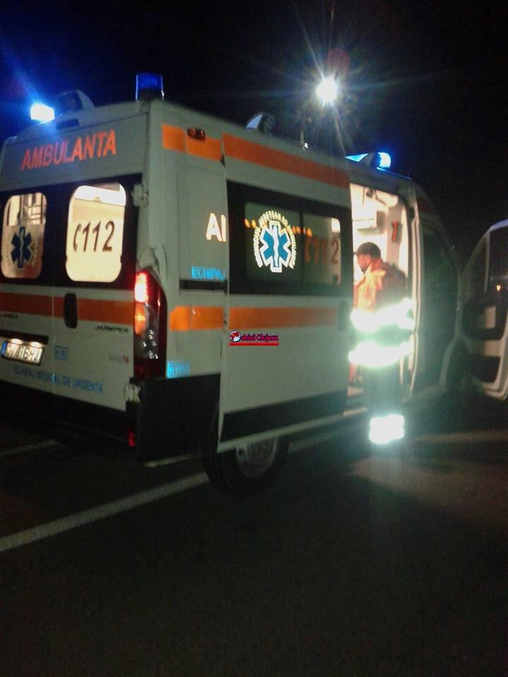 Accident la Măgoaja, o persoană a ajuns la spital