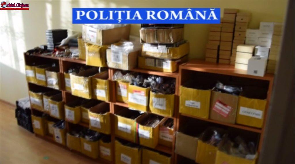Peste 5.000 de produse contrafăcute, confiscate de polițiștii clujeni VIDEO