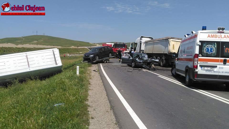 Accident MORTAL în Stejăriș, în apropiere de Turda! O persoană a decedat FOTO-VIDEO