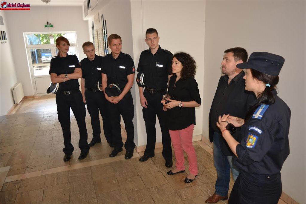 Delegaţie germană în vizită la Inspectoratul de Jandarmi Judeţean Cluj FOTO