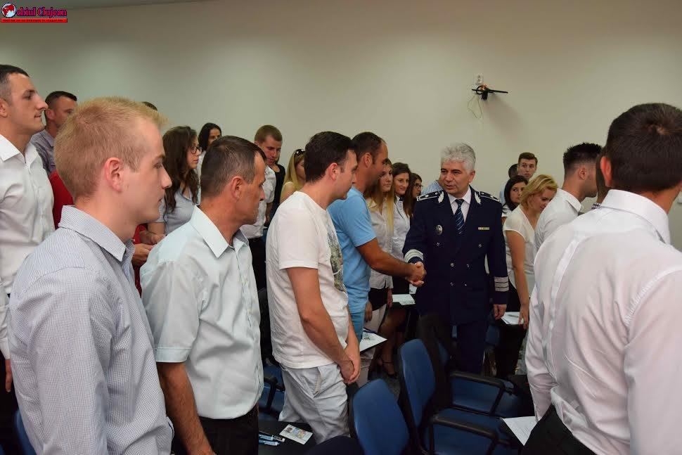 Bun venit noilor polițiști, la Inspectoratul de Poliție Județean Cluj FOTO