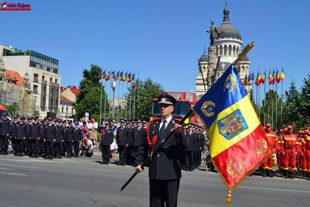 80 de ani de atestare documentară a pompierilor militari din județul Cluj FOTO