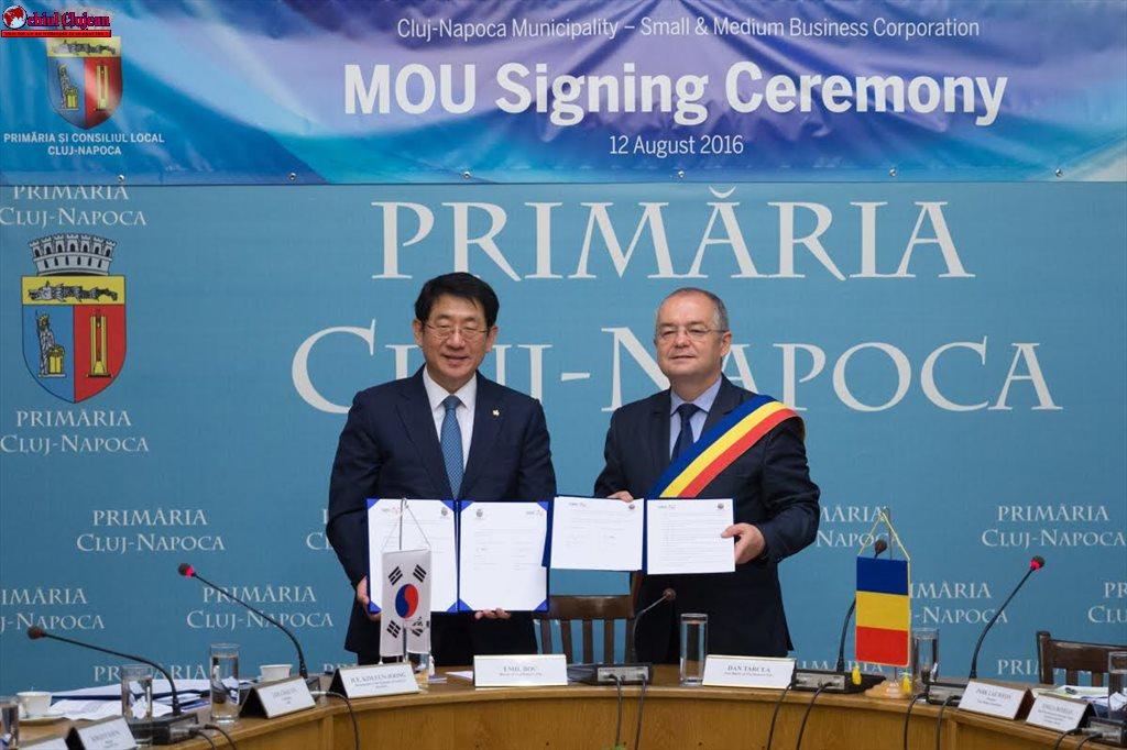 Memorandum de colaborare româno-coreeană încheiat la Primăria Cluj-Napoca