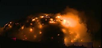 Incendiu la rampa de gunoi de la Pata Rât VIDEO