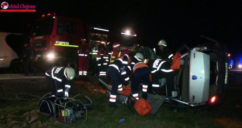 Accident MORTAL pe un drum din Cluj. Două persoane și-au pierdut viața FOTO