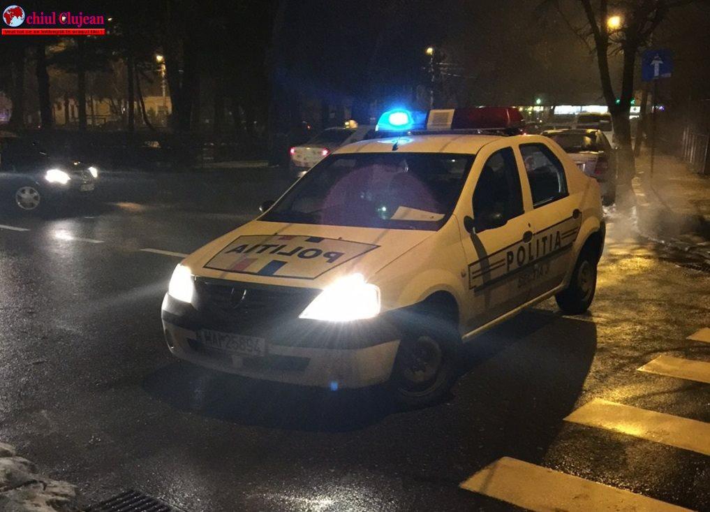 Cluj: Bărbat fără permis la volanul unui autoturism neînmatriculat, depistat în trafic