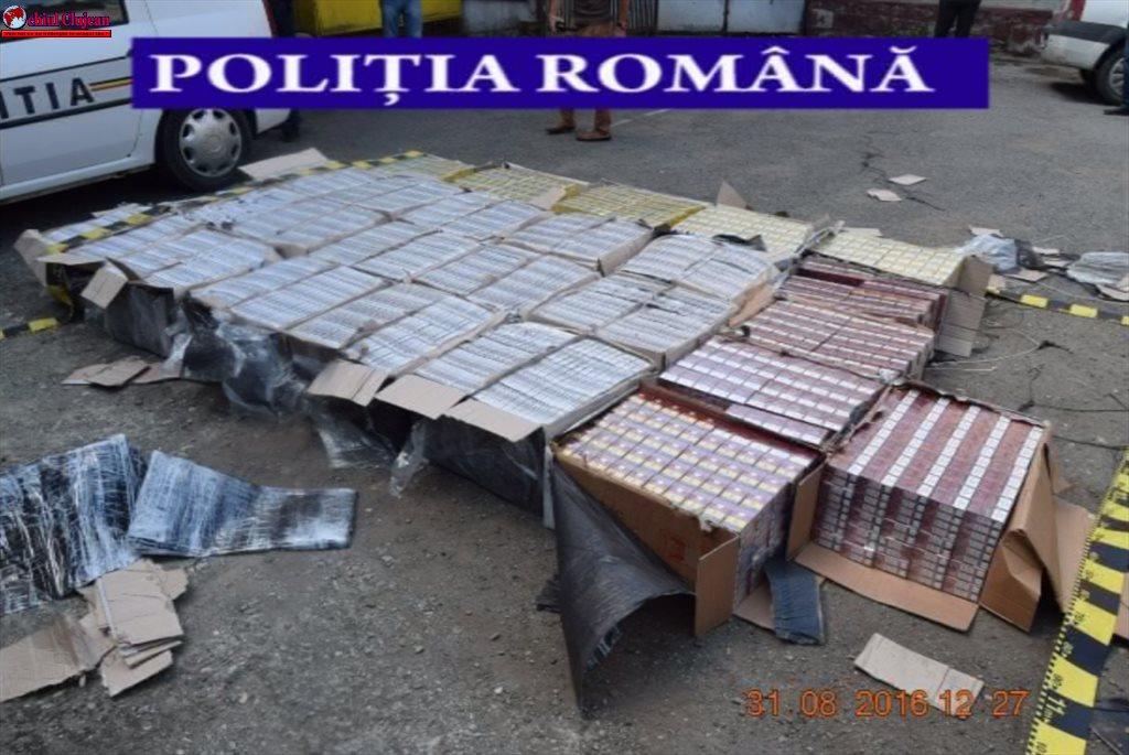 400.000 de țigarete de contrabandă, confiscate de polițiștii dejeni VIDEO