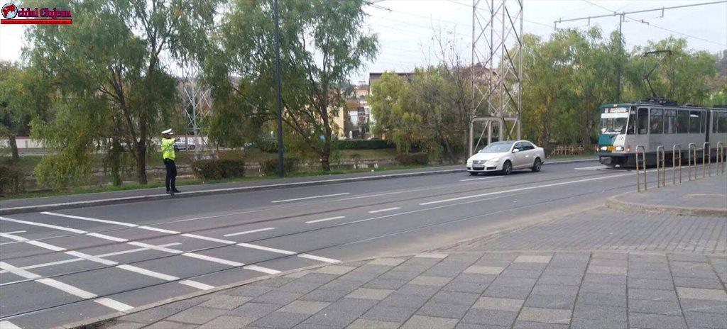 Acțiune pentru prevenirea accidentelor rutiere, pe Splaiul Independenței din Cluj-Napoca