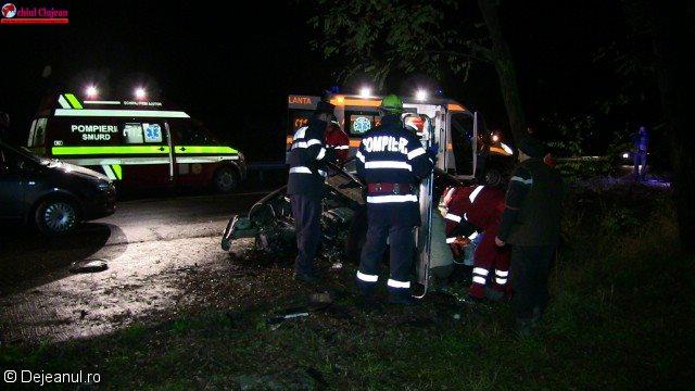 Accident GRAV în Dej produs de un șofer beat! O persoană a decedat și patru au fost rănite FOTO