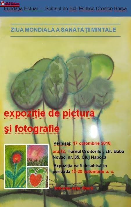 Expoziţie de pictură şi fotografie organizată de Spitalul de Boli Psihice Cronice Borşa