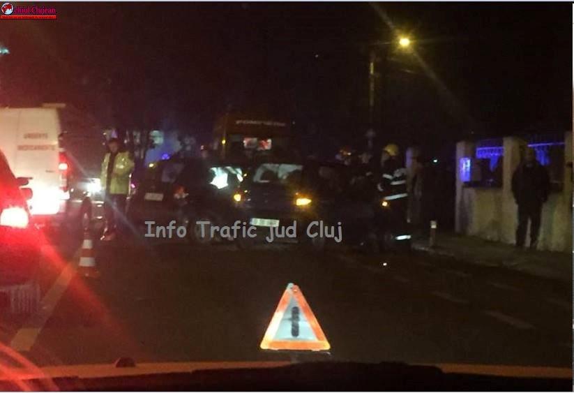 Accident în Grigorescu! O persoană a rămas încarcerată FOTO