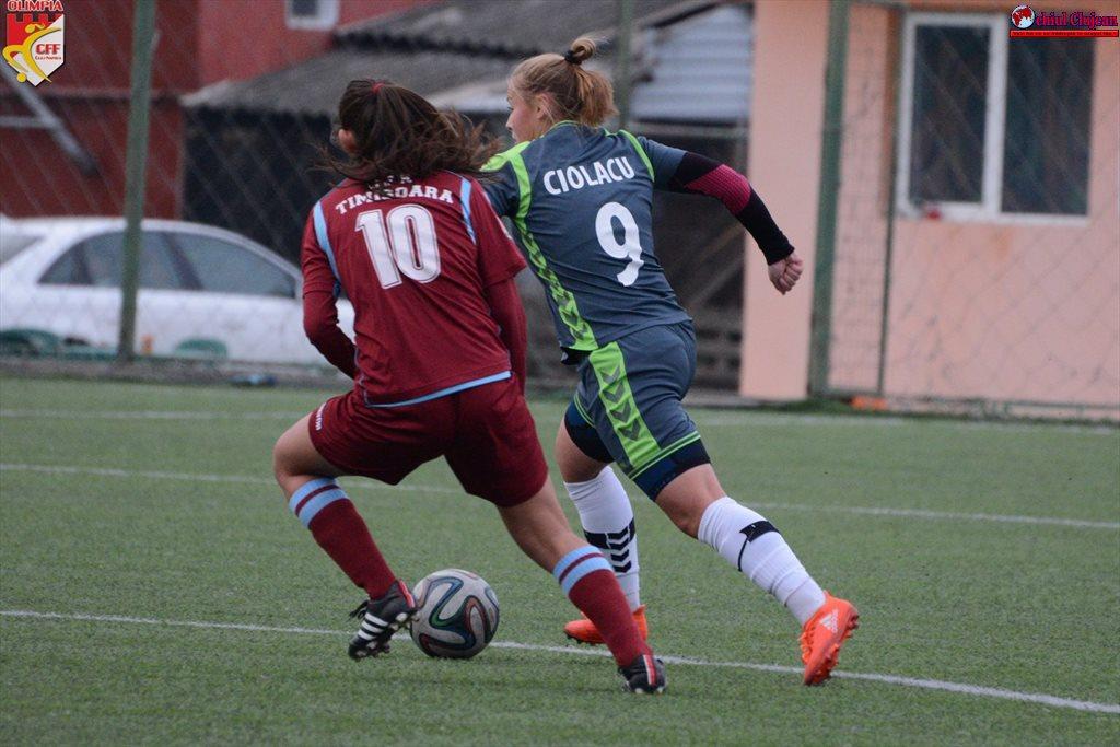 Fotbal feminin: Olimpia revine pe locul 1