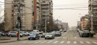 3 benzi de circulație în loc de 2 pe sensul Calea Dorobanților – T. Mihali (Iulius Mall) FOTO