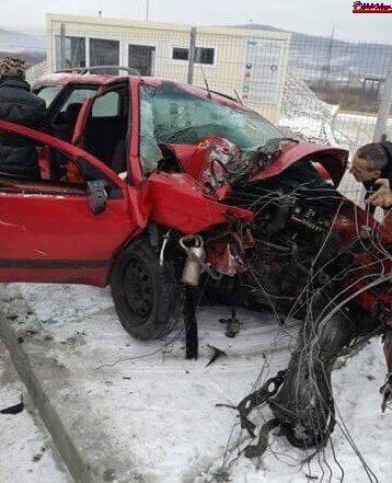 Accident MORTAL la Aghireș Fabrici! Un șofer și-a perdut viața după ce a accidentat grav un pieton FOTO