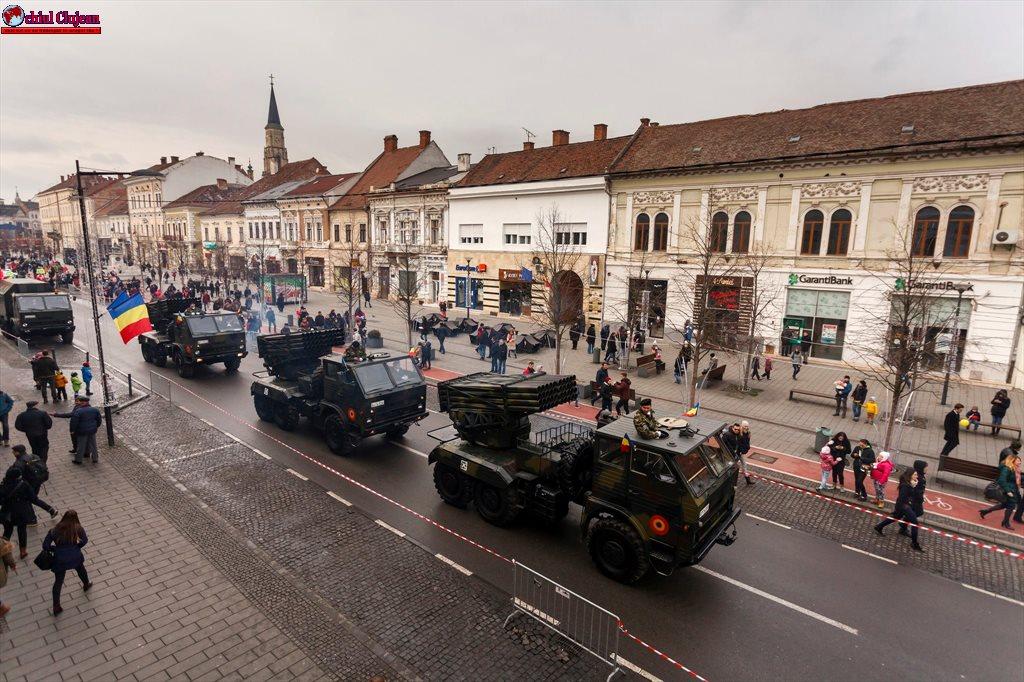 Ziua Națională sărbătorită la Cluj-Napoca! Mii de persoane au admirat parada militară GALERIE FOTO