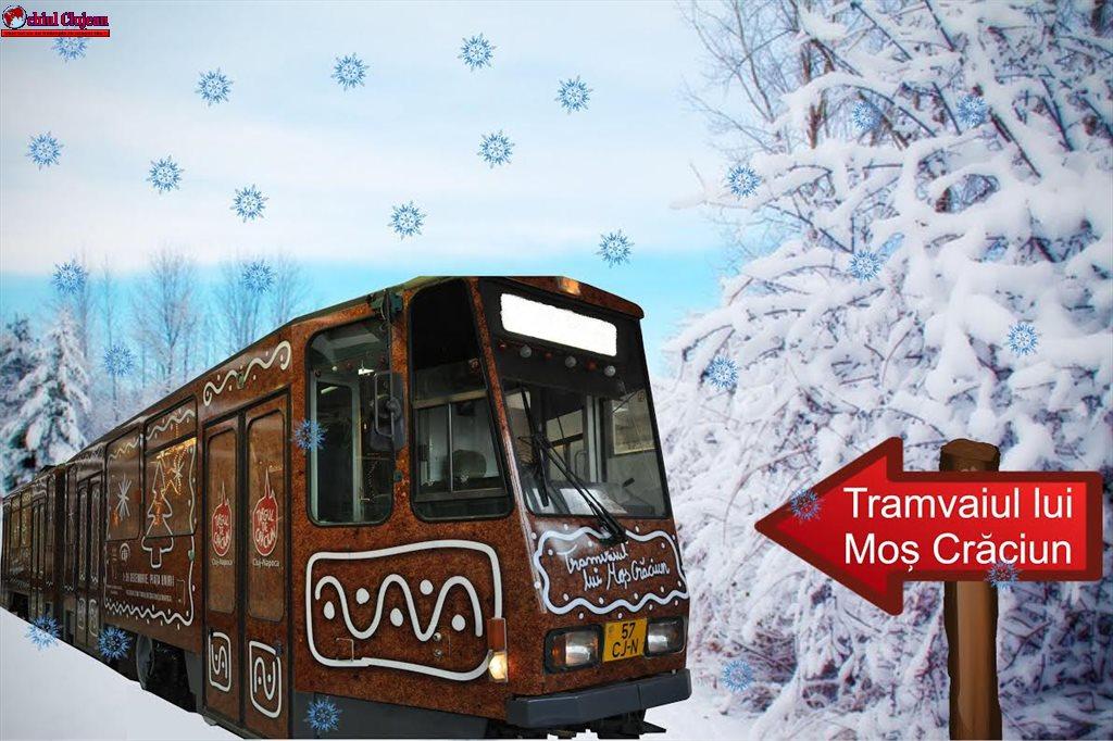 Cluj-Napoca: Tramvaiul lui Moș Crăciun pornește prin oraș