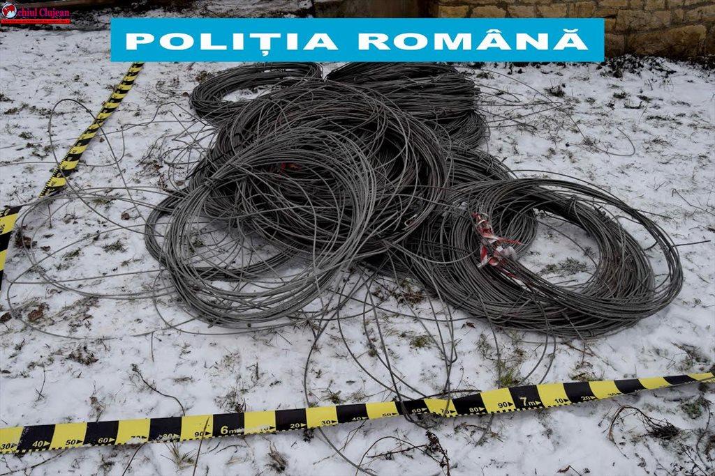 Conductori electrici sustrași,recuperați de polițiști FOTO
