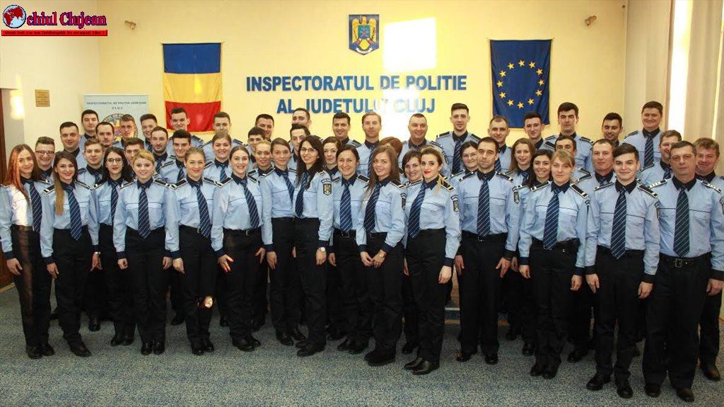 IPJ Cluj: 54 de agenți de poliție au depus Jurământul de Credință FOTO