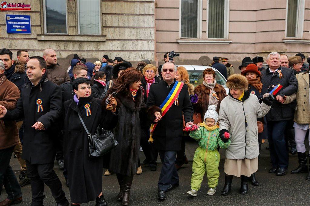 Clujul sărbătorește 158 de ani de la Unirea Principatelor Române FOTO