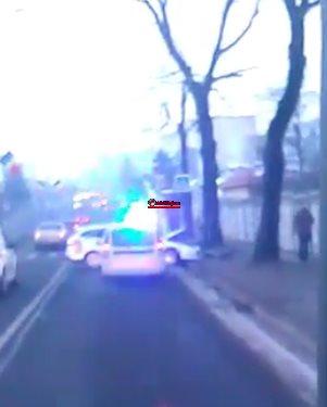 Coliziune între un autoturism și un taxi pe Calea Turzii VIDEO