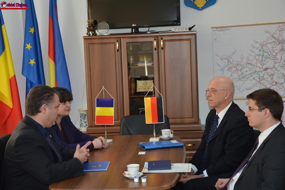 Noul Ambasador al Germaniei, în vizită la Consiliul Judeţean Cluj FOTO