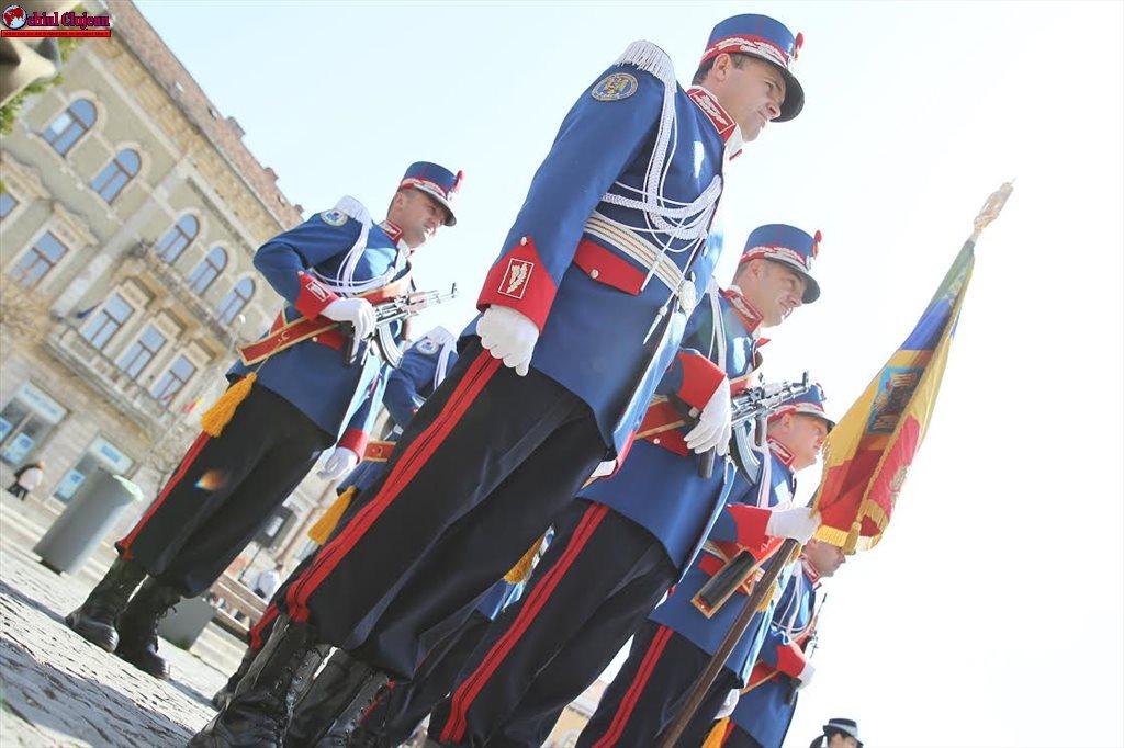 """Jandarmii clujeni asigură măsurile de ordine  cu ocazia """"Zilei Unirii Principatelor Române"""""""