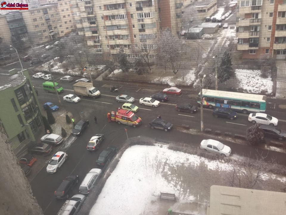 Accident pe strada Câmpului FOTO