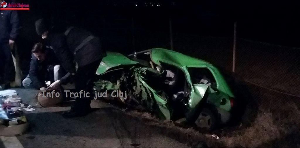 Accident pe centura Apahida! Impact violent între un autoturism și un TIR FOTO