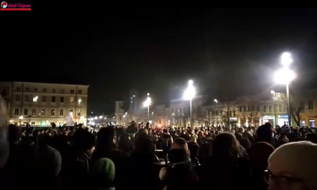 Protest în Cluj-Napoca de la ora 19:00