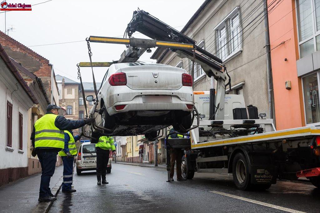 Cluj-Napoca: De astăzi a început ridicarea mașinilor parcate neregulamentar FOTO- VIDEO